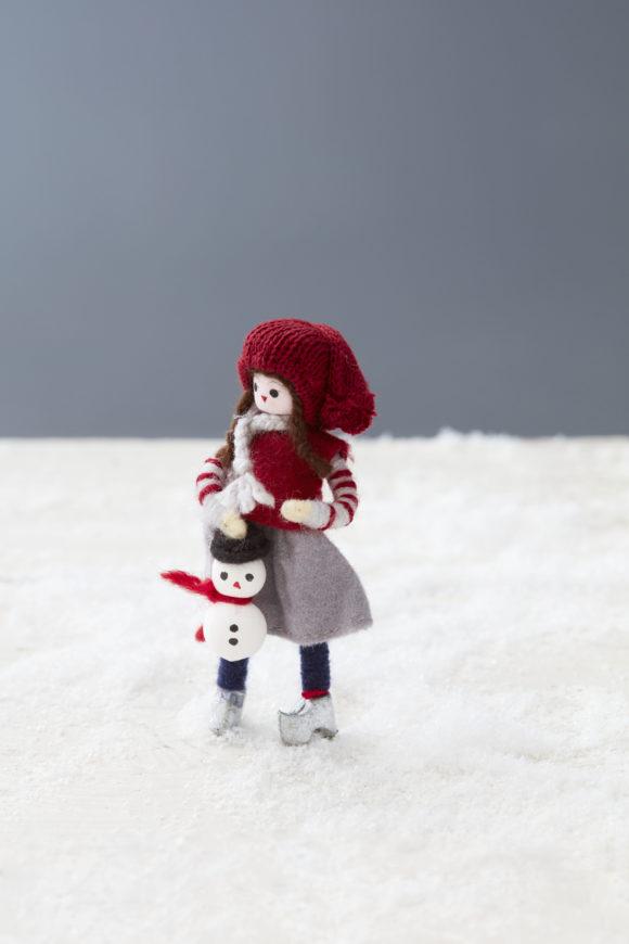 CILLE et son bonhomme-neige